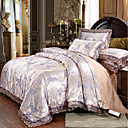 cheap Duvet Covers-Duvet Cover Sets Luxury Polyster Printed & Jacquard 4 Piece