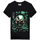 abordables Bombillas LED-Hombre Calavera Estampado Camiseta Bloques / Cráneos