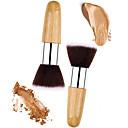 billige Pulverbørster-2pcs Makeup børster Profesjonell Pudderbørste Nylon Børste / Syntetisk hår Økovennlig / Profesjonell Tre / Metall