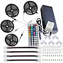 cheap Clutches & Evening Bags-KWB 4x5M Light Sets 600 LEDs 5050 SMD 1 44Keys Remote Controller / 1Set Mounting Bracket RGB Cuttable / Waterproof / Linkable 100-240 V 1set