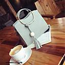 cheap Totes-Women's Bags PU(Polyurethane) Tote Zipper Black / Blushing Pink / Gray