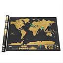 رخيصةأون كائنات ديكور-محو خريطة العالم الأسود خدش خريطة العالم شخصية خدش السفر للخريطة ملصقات الحائط غرفة