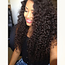 olcso Emberi hajból készült parókák-Szűz haj Csipke Paróka Perui haj Hullámos Fekete Paróka Réteges frizura 130% Haj denzitás baba hajjal Természetes hajszálvonal 100% kézi csomózású Fekete Női Hosszú Emberi hajból készült parókák Aili