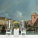 preiswerte Stiftung Bürsten-Wand-Tapete des Weinlese-Fischerbootes kundenspezifische Wandbelag 3d passend für Küchenschlafzimmercafé