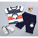 זול אוברולים טריים לתינוקות לבנים-סט של בגדים שרוולים קצרים גיאומטרי בנים תִינוֹק