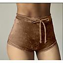baratos Acessórios de Boneca-Mulheres Delgado Shorts Calças - Sólido Preto