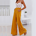 cheap Solid Duvet Covers-Women's Street chic Wide Leg Pants - Solid Colored Ruched