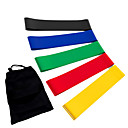 cheap Office Basics-Exercise Resistance Bands With 5 pcs Emulsion Calories Burned, Stretchy Strength Training, Physical Therapy For Yoga / Pilates / Fitness Home / Office