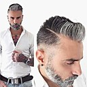 povoljno Tupe-Muškarci Ljudska kosa Tupe Wavy Monofilament Nježno