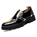 cheap Men's Oxfords-Men's PU(Polyurethane) Fall Comfort Oxfords Color Block Gold / Black