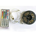 olcso LED szalagfények-2m LED-es szalagfények / RGB szalagfények / Távirányító 60 LED SMD5050 1 44Keys távirányító RGB + fehér Cuttable / USB / Vízálló 5 V 1set / IP65 / Öntapadós