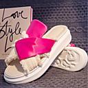 povoljno Ženske sandale-Žene PU Ljeto Udobne cipele Papuče i japanke Creepersice Otvoreno toe Crn / Crvena