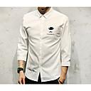 baratos Clutches & Bolsas de Noite-Homens Camisa Social Básico Sólido / Letra