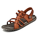 ieftine Sandale Bărbați-Bărbați Pantofi de confort Piele Vară Sandale Negru / Maro / În aer liber