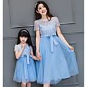 ieftine Set Îmbrăcăminte De Familie-Adulți Mama și cu mine De Bază Mată Manșon scurt Rochie