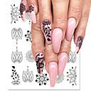 abordables Barras de Labios-5 pcs Adhesivos arte de uñas Manicura pedicura Hueco Calcomanías de uñas Ropa Cotidiana / Festival