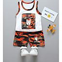 ieftine Baby Boys' One-Piece-Bebelus Băieți De Bază Zilnic Imprimeu Fără manșon Regular Bumbac Set Îmbrăcăminte Roz Îmbujorat 100 / Copil