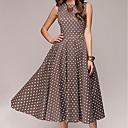 cheap Totes-Women's Going out Cotton Skinny Swing Dress - Polka Dot / Summer