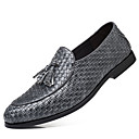 cheap Men's Oxfords-Men's Formal Shoes Faux Leather Fall Novelty / Formal Shoes Oxfords Black / Gray / Red / Party & Evening / Novelty Shoes