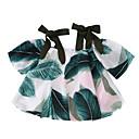 abordables Pelucas-Niños Chica Básico Floral Estampado Manga Corta Blusa