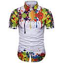 cheap Wall Murals-Men's Basic Shirt - Floral