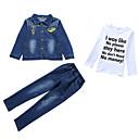 ieftine Top Băieți-Copii Băieți De Bază Geometric Imprimeu Manșon Lung Bumbac Set Îmbrăcăminte