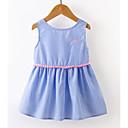 tanie Sukienki dla dziewczynek-Brzdąc Dla dziewczynek Podstawowy Prążki Haftowane Bez rękawów Przed kolano Sukienka