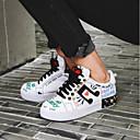 ieftine Adidași de Damă-Pentru femei Pantofi Nappa Leather Vară Confortabili Adidași Toc Drept Vârf Închis Alb