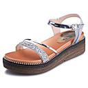 povoljno Ženske sandale-Žene Cipele PU Ljeto Udobne cipele Sandale Creepersice Zlato / Pink