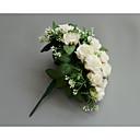 baratos Bouquets de Noiva-Bouquets de Noiva Buquês Casamento / Festa de Casamento Tecidos 11-20 cm