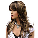 cheap Human Hair Capless Wigs-natural long alice turned brown with golden highlights wig for woman