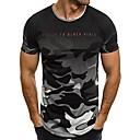 halpa Keittiön siivoustarvikkeet-Miesten Painettu Color Block / naamiointi / Kirjain Perus T-paita
