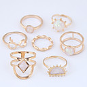 cheap Earrings-Women's Hollow Ring Set - Alloy Stylish, Simple, European 7 Gold For Causal / 7pcs