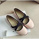 olcso Női alacsony cipők-Női PU Nyár Kényelmes Lapos Lapos Zárt orrú Fekete / Zöld / Rózsaszín