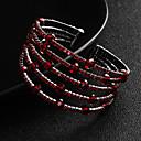 baratos Acessórios de Cabelo-Mulheres Cristal Bracelete Pulseiras Algema - Europeu, Fashion Pulseiras Vermelho Para Casamento Diário