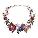 cheap Costume Wigs-Women's Crystal Sculpture Choker Necklace / Chain Necklace / Statement Necklace - Tree of Life, Flower Luxury, Bohemian, Fashion Heart Rainbow 38+8 cm Necklace Jewelry 1pc For Wedding, Engagement