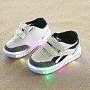 cheap Boys' Clothing Sets-Boys' Shoes PU(Polyurethane) Spring & Summer Comfort Sneakers Walking Shoes Magic Tape / LED for Toddler White / Black