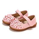 זול נעלי ילדות-בנות נעליים PU אביב קיץ נוחות / נעליים לילדת הפרחים שטוחות הליכה סקוטש ל פעוטות לבן / אדום / ורוד