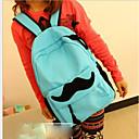 ieftine Intermediate School Bags-Pentru femei Genți pânză Geantă Școală Fermoar Galben / Maro / Albastru celest