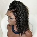 cheap Human Hair Wigs-Synthetic Lace Front Wig Curly Style Side Part Lace Front Wig Black Dark Brown Natural Black Synthetic Hair Women's with Baby Hair / Heat Resistant / Natural Hairline Black Wig Short Modernfairy Hair