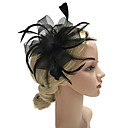 billige Kvinders Brocher-Dame Mode / Elegant Hårclips / fascinator Sløjfer / Net, Ensfarvet