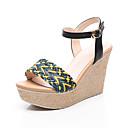 ieftine Flip-Flops de Damă-Pentru femei Pantofi PU Vară Confortabili Sandale Toc Platformă Negru / Roz