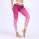 tanie Odzież do fitnessu, biegania i jogi-BARBOK Damskie Spodnie do jogi - Fuksja Sport Przejście kolorów Rajstopy Bieganie, Fitness, Siłownia Odzież sportowa Oddychający, Szybkie wysychanie Elastyczny