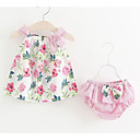 cheap Baby Girls' Clothing Sets-Baby Girls' Floral Sleeveless Clothing Set