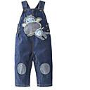 ieftine Pantaloni Bebeluși-Bebelus Fete De Bază Zilnic Imprimeu Poliester Salopetă Bleumarin 100