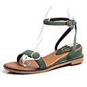 cheap Women's Sandals-Women's Shoes PU(Polyurethane) Summer Slingback Sandals Wedge Heel Black / Green