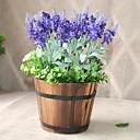 levne Samolepky na zeď-Umělé květiny 1 Větev Klasické stylové rustikální design Světle modrá Květina na stůl