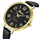preiswerte Mode Uhr-Geneva Damen Uhr Kleideruhr Armbanduhr Quartz Leder Schwarz / Braun Neues Design Armbanduhren für den Alltag Cool Analog damas Freizeit Modisch Silber / schwarz Goldenbraun Rotgold / Ein Jahr