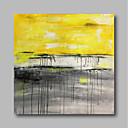 رخيصةأون لوحات تجريدية-هانغ رسمت النفط الطلاء رسمت باليد - تجريدي معاصر / الحديث كنفا