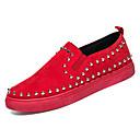 זול נעלי ספורט לגברים-בגדי ריקוד גברים עור נובוק / PU סתיו נוחות נעלי ספורט שחור / אדום / שחור לבן
